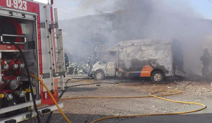 Another fire, thought deliberate, destroys 4 vehicles near Las Palmas.  Suspect sought