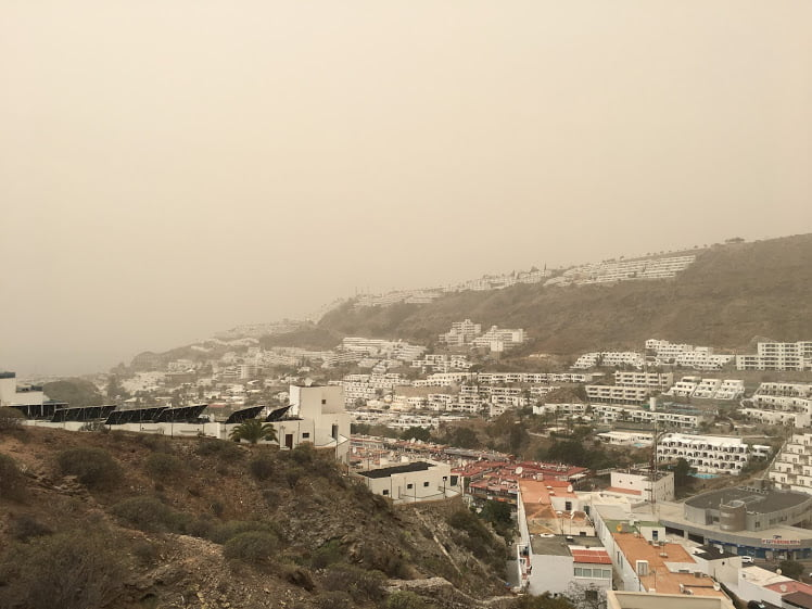 Gran Canaria Weather: A cloudy start, with African dust expected from Tuesday afternoon