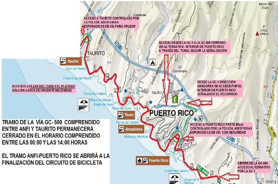 The Gloria-Challenge Mogán Gran Canaria triathlon and road closures on Saturday 21 April on GC-500 Mogán