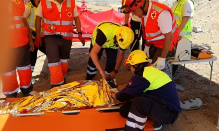 Air accident simulation exercise at Gran Canaria airport