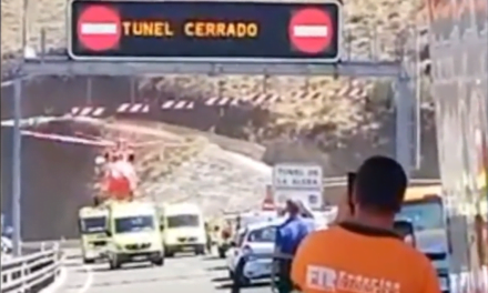 A highway worker killed in the tunnel of the new La Aldea road